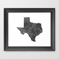 Texas Lines Framed Art Print by Romi Vega | Society6