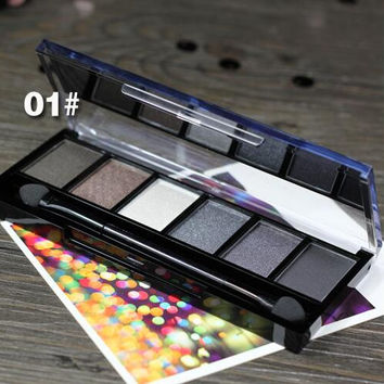 01# Makeup Palette Natural Eye Makeup Light 6 Colors Eye Shadow Makeup Shimmer Matte Eyeshadow Palette Set by Sugar Box