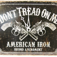 Dont Tread On Me Clock Unique Wall Clocks American Iron, Second Amendment, Gun Clock, Brother Gift, Father Gift, Boyfriend Gift