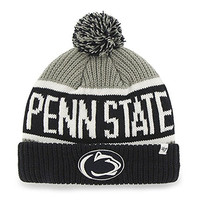 Penn State Nittany Lions Navy Blue and Gray Calgary Knit Hat