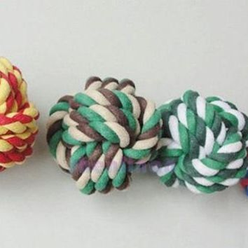 DCCKIX3 new fashion  hot sale CAMOUFLAGE DOG PUPPY PET COTTON BRAIDED CHEW KNOT TOY = 1930489476