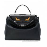 Indie Designs Fendi Inspired Monster Eyes Peekaboo Leather Bag