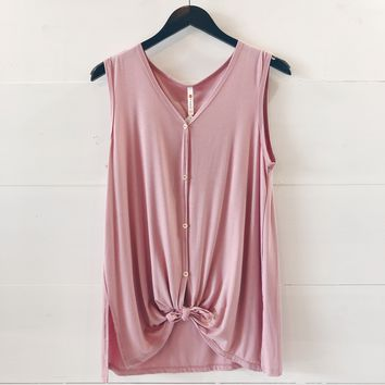 Rae Front Knot Top