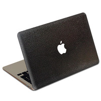 Black Football MacBook Leather Cover