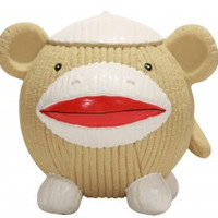 Hugglehounds Ruff-Tex Sock Monkey Knottie Dog Toy