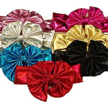 Metallic Messy Big Bow Headwrap-for 6mos.-6 yr. olds~Adorable Bows