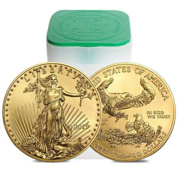 2019 1 oz Gold American Eagle BU Roll (20 Coins)