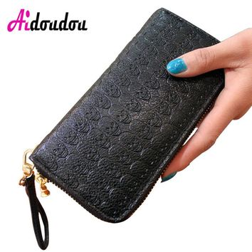 Skeleton Skull Wallet PU Leather Purse Women Wallets Female Purses Card Holders Carteira Purse Men Purse