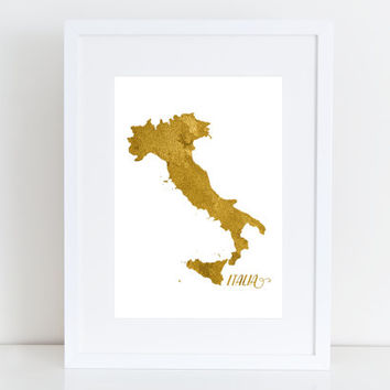 Italia map  - Italy  Printable art , Instant download