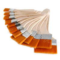 New 12Pcs Wooden Painting Brush Artists Acrylic Oil Painting Tool Art Supply Set -Y102
