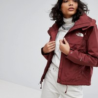 The North Face Short Cagoule In Burgundy at asos.com