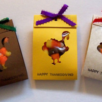 Turkey party favors, Classroom treats for Thanksgiving fun