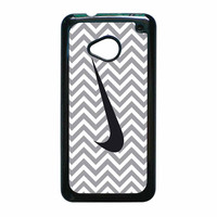 Nike Logo Chevron Graydc HTC One M7 Case
