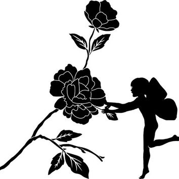 Fairy rose flower png silhouette Digital graphics Image Download fantasy art illustration
