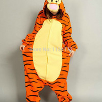 3D dimensional Tiger  costume Pajamas Cartoon Animal Cosplay  Pyjamas Adult Onesuits party dress  Halloween pijamas