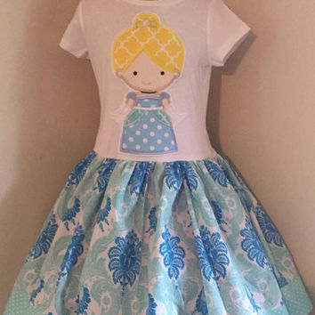 Cinderella Appliqued T Shirt Dress Available from 12m to 14/16