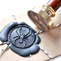 Spider Gold Plated Wax Seal Stamp x 1