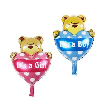 5pcs/Set Funny Children Aluminum Foil Helium Balls Baby Boys Girls Shower Air Balloons Birthday Decoration Party Supplies Gifts