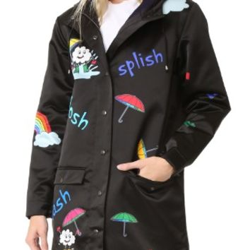 Print Rain Rain Go Away Raincoat