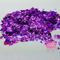 Purple Holographic Triangles – Colors For Slime