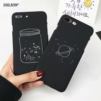 Cartoon Wishing Bottle Planet Moon Phone Case For iPhone 7 6 6s Plus