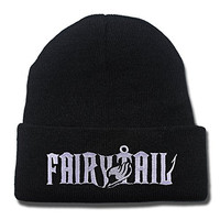 Fairy Tail Anime Logo Beanie Fashion Unisex Embroidery Beanies Skullies Knitted Hats Skull Caps