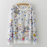 The new hedge printing fashion cute casual sweater Snoopy