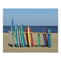 Surf boards Asbury Park NJ Beach Posters from Zazzle.com