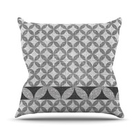 "Nick Atkinson ""Diamond Black"" Outdoor Throw Pillow, 16"" x 16"" - Outlet Item"