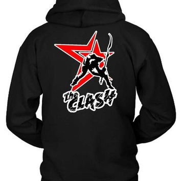 DCCKG72 The Clash London Calling Star Second Logo Hoodie Two Sided