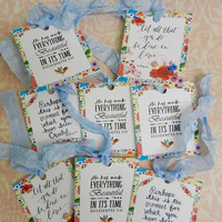 Scripture Gift Tags Bible Verse Gift Tags Handmade Religious Gift Tags Set