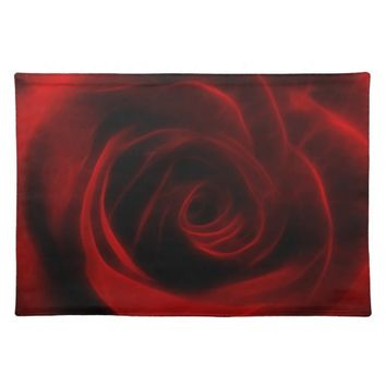 Red Rose depth of love Place Mats