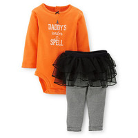 Halloween 2-Piece Bodysuit & Tutu Pant Set