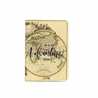 Adventure Begins Name Customized Cute Leather Passport Holder - Passport Covers - Passport Wallet_SUPERTRAMPshop