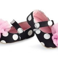Mud Pie Baby-girls Newborn Rosette Mary Janes