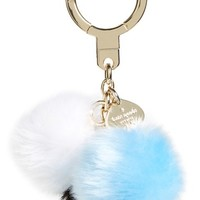 kate spade new york 'triple pom pom' faux fur bag charm | Nordstrom