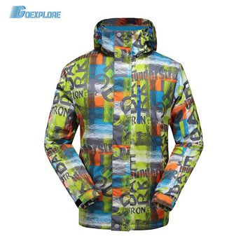Goexplore Snowboard Jacket Men -30 degree Outdoor Sport Hiking Snow Coat Winter Thicken Warm Waterproof Snow Ski Jacket Male