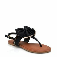 bow sandals $14.30 in BLACK NATURAL RED YELLOW - New Shoes | GoJane.com
