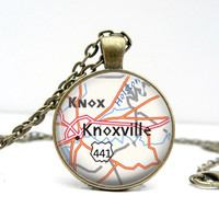 Knoxville Map Necklace : Tennessee