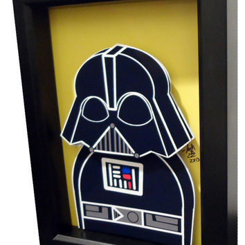 Darth Vader 3D Pop Art Star Wars Movie Poster Print