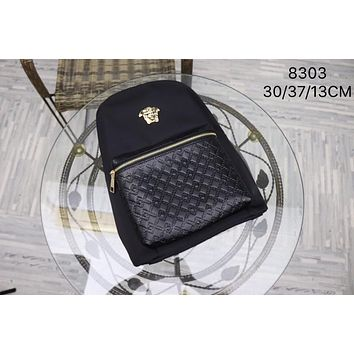 2020 New Office VERSACE men size 30/37/13.5 CM business bags computer Canvas Saddle back pack travel bags Monogram Handbag Neverfull Bags Tote Shoulde  Bag Wallet Purse Bumbag Discount Cheap Bags Best Quality