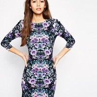 ASOS | ASOS Mirror Floral Bodycon Dress at ASOS
