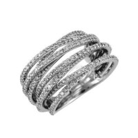 Ladies Diamond Ring in White Gold (TCW 1.55). | GrandeJewelry.com