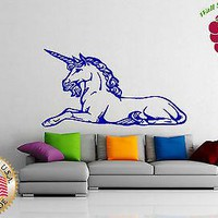 Wall Sticker Vinyl Decal Unicorn Mythological Animal Fairytale Child Room  Unique Gift z301