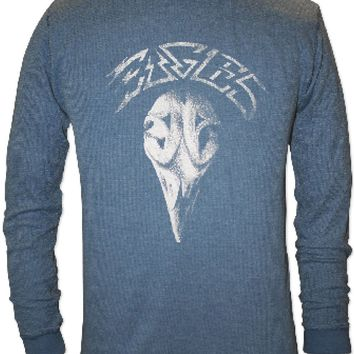 Eagles Classic Rock n Roll Band Vintage Shirt - Greatest Hits Album Cover Artwork. Men's Blue Long Sleeve Thermal.