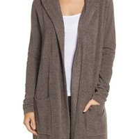 Barefoot Dreams® Cozychic Lite® Coastal Hooded Cardigan | Nordstrom