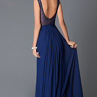 Long Sweetheart Open Back Dress JVN29120 from JVN by Jovani