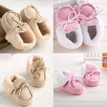 Lovely Baby Shoes Warm Winter Boots Soft Fur Toddler Crib 3 Sizes 0 18 Months  @n5 = 1931533508