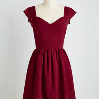 Let's Reminisce A-Line Dress in Cranberry | Mod Retro Vintage Dresses | ModCloth.com