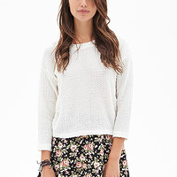 FOREVER 21 Clustered Rose Skater Skirt Black/Beige